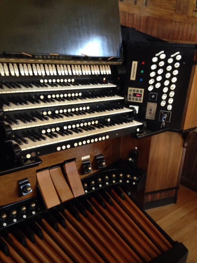 Closer view of the Brangwyn Hall Willis Organ