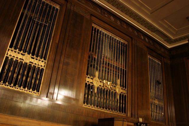 The Brangwyn Hall Willis Organ pipes